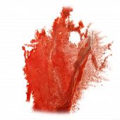 pic of insulting  - abstract hand drawn red watercolor blot insult Rorschach psychology - JPG