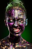 picture of dark-skin  - close - JPG