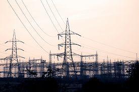 foto of transformer  - Electricity Substation High Voltage Transformer - JPG