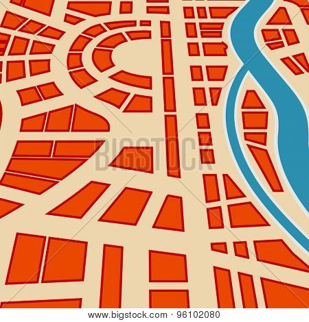Background of city map. Raster version