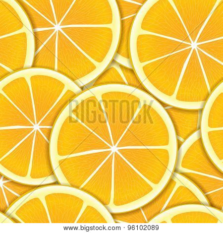 Citrus segments seamless background. Raster version