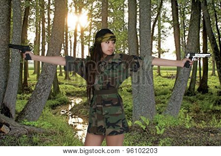 Asian Woman Soldier