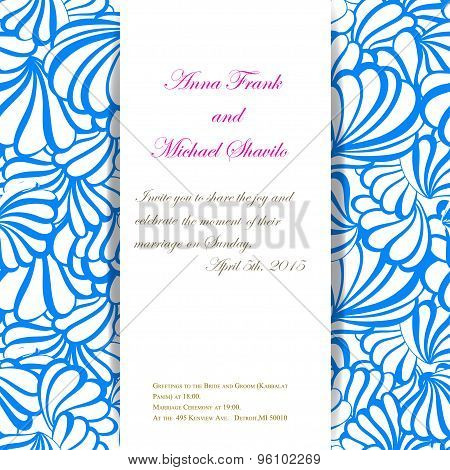 sea vector invitation pattern for wedding day.