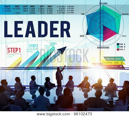 Leader Leadership Coaching Director Leading Concept