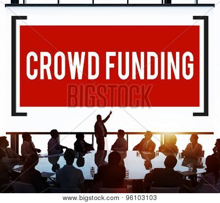 Crowd Funding Contribution Donate Fundriser Concept