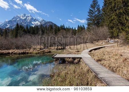 Alpine lake in Slovenian Alps