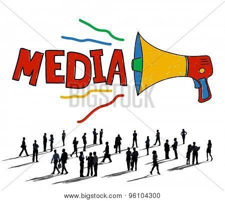 Media Entertainment Multimedia Social Media Concept