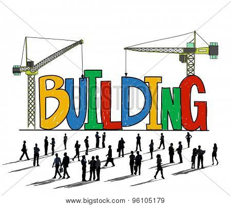 Building Business Strategy Stability Success Concept