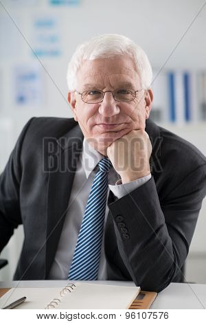 Mature experienced businessman