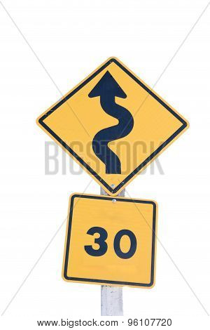 Traffic S-curves Sign