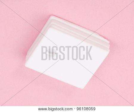 Ceramic Insulator On Pink Background