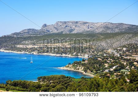 Cassis Bay And Sea. Cote Azur, Provence, France.