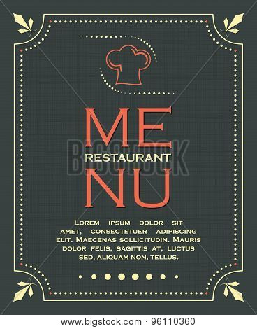 Restaurant menu cover background in vintage style 01