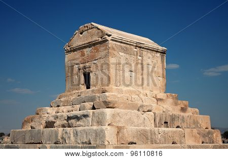 Burial Grave Of Cyrus The Great In Pasargad Of Shiraz