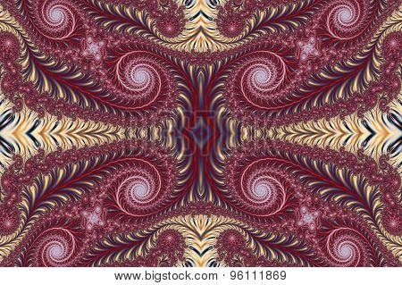 Beautiful Background With Spiral Pattern. Collection - Oriental Tales. Artwork For Creative Design,