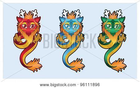 Cute Chinese dragon illustration art