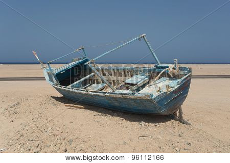 Old Beached Fishing Boat