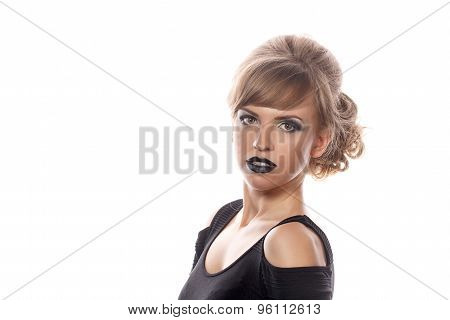 Girl With Gothic Makeup