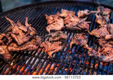 Roasted Quail On Grille