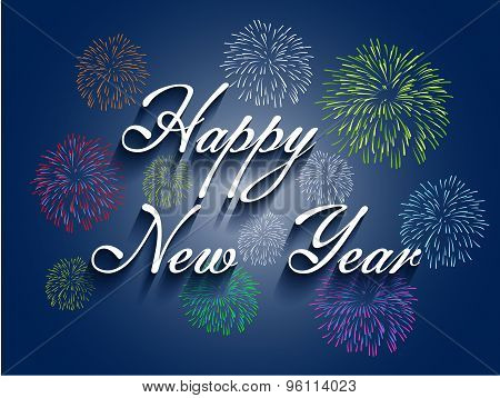 Beautiful text Happy New Year 2016  illustration