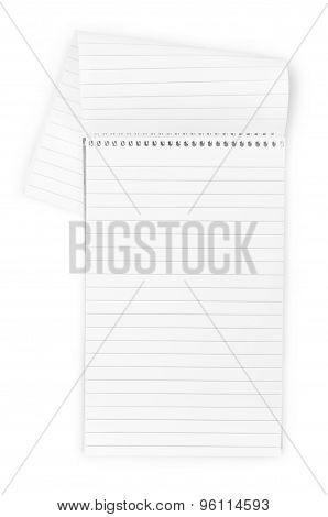 Vertical Realistic Spiral Notepad Notebook Isolated On White