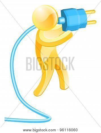 Plug Gold Person