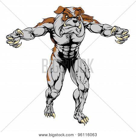 Bulldog Scary Sports Mascot