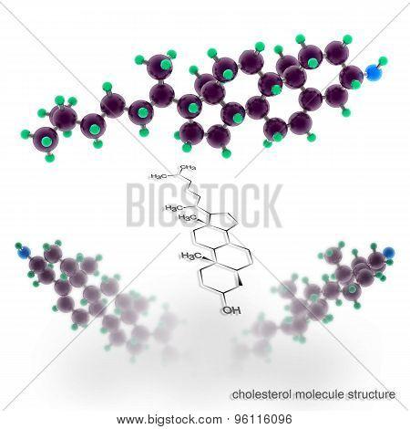 Cholesterol Molecule Structure.