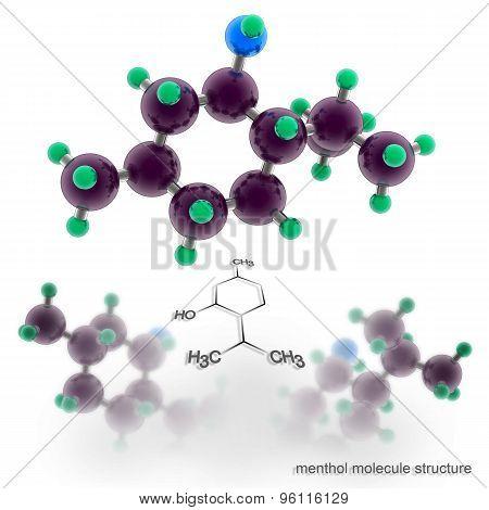 Menthol Molecule Structure.