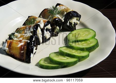 Appetizer with eggplant
