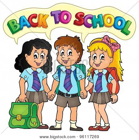 School pupils theme image 5 - eps10 vector illustration.