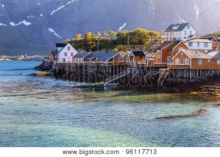 Scenic town Reine village, Lofoten islands, Norway