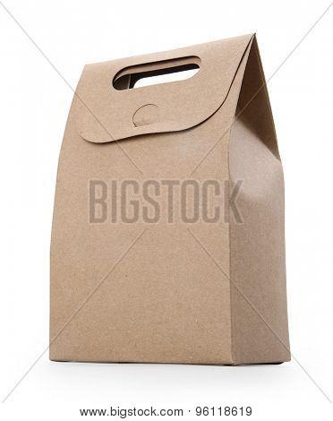 blank hand cake, bread packaging paper bag.