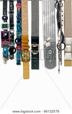 Set of woman many belts