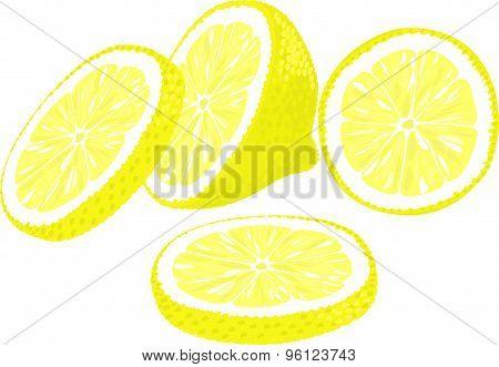 Slices of lemon.