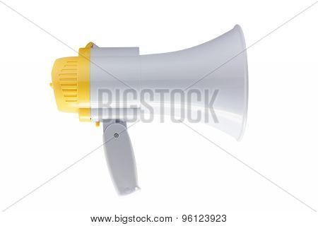 Megaphone Or Bullhorn On White Background