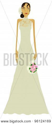woman with weeding dress