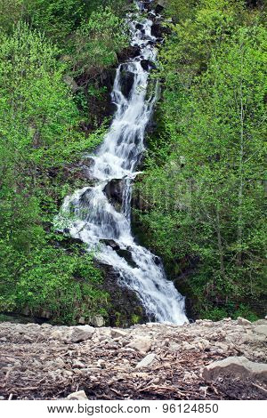 Waterfall In The Carpathian Mountains