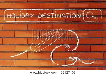 Online Search For Holiday Destinations