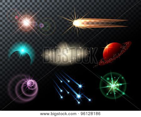 Glowing Stars and Comets