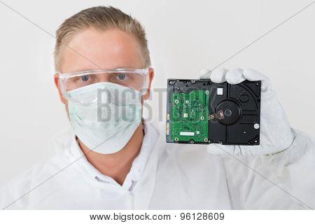 Repairman Showing Harddisk