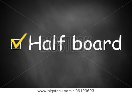 Black Chalkboard With Checkbox Checked Half Board