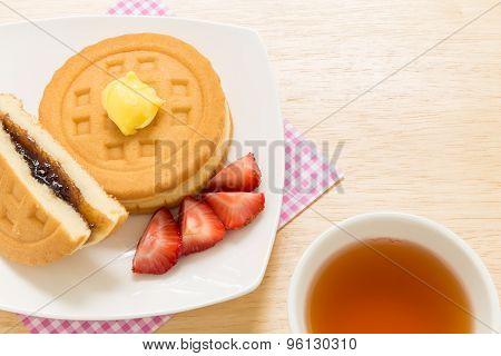 Snack For Tea Break Background / Snack Background