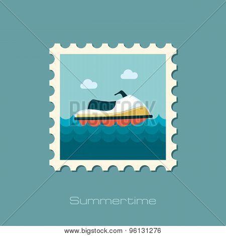 Jet Ski Flat Stamp