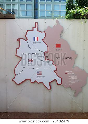 Map Of East And West Berlin