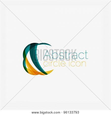 Abstract symmetric geometric shapes, business icon. Vector icon