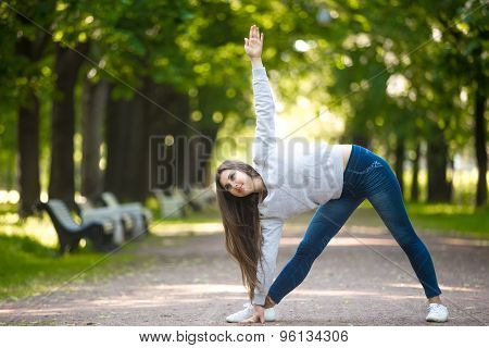 Yogic Workout On Park Alley