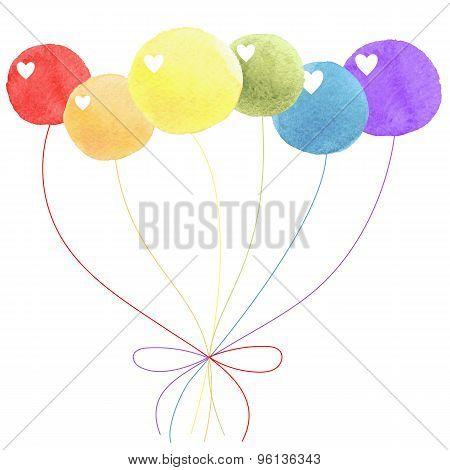 Balloon watercolor rainbow lgbt, gays, lesbians