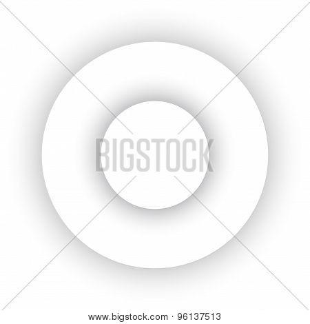 White Abstract Circles