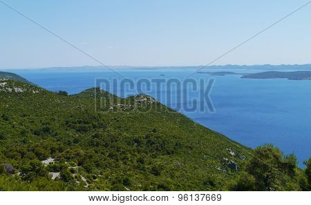 The isle Ugljan in the Mediterranean
